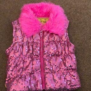 Girls sparkly vest size 4-6x
